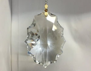"Full Cut 3"" Hand Cut and Polished Hanging Crystal Prism"
