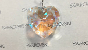 SWAROVSKI® STRASS 8781-28MM Heart Pendant *Blue AB*