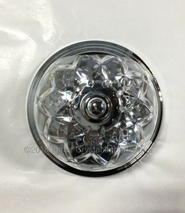 "6"" x 4-1/8"" Chrome Wall Sconce"