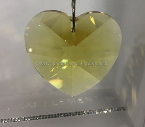 SWAROVSKI® STRASS 8781-40MM Heart Pendant *Light Topaz*