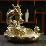 Immortal Dragon Incense Burner Zen Incense Siddhartha Gold
