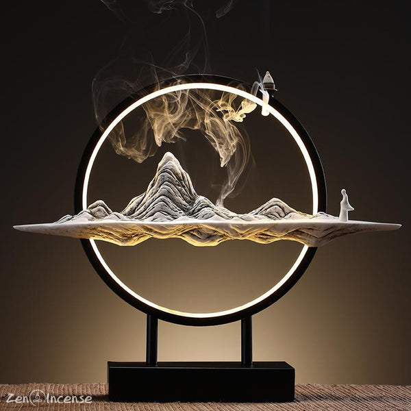 The Kunlun Mountain Incense Burner Zen-Incense LLC Light