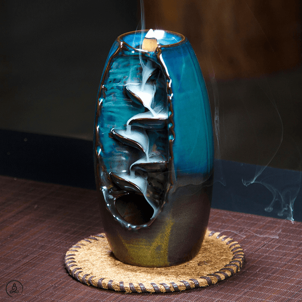 Eternal Falls Incense Burner Zen Incense Arcane Blue