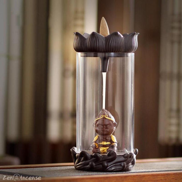 Golden Monkey Falls Incense Burner Zen Incense