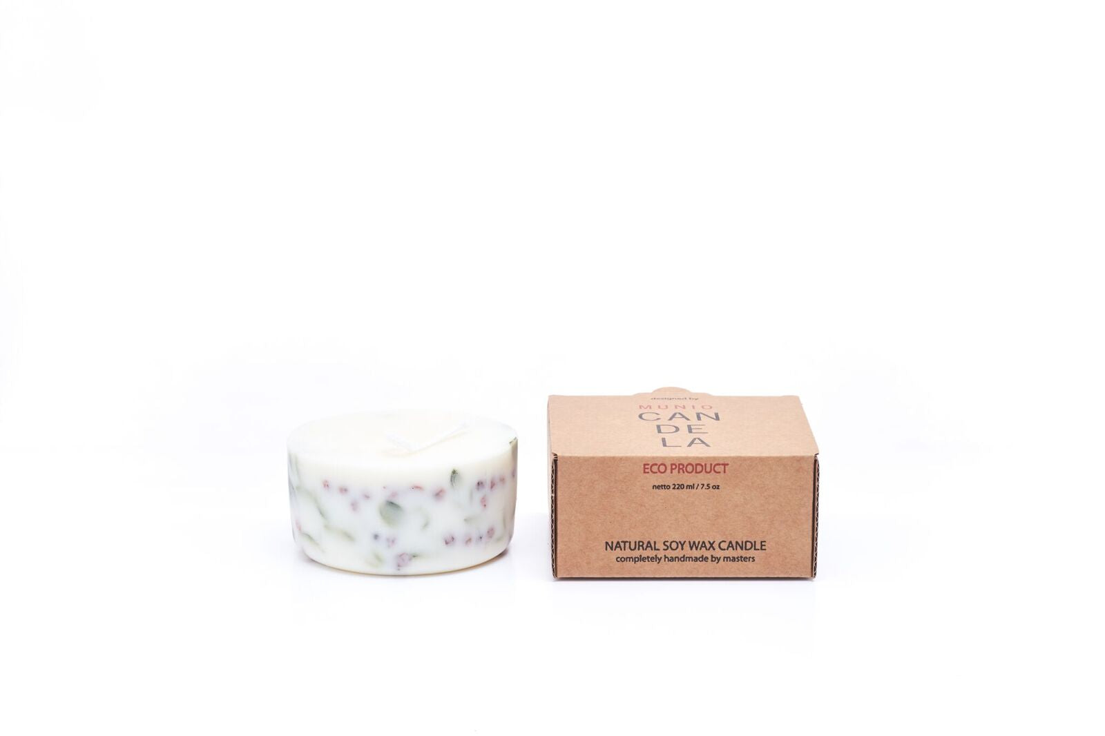 Ashberies and bilberry leaves candle Munio Candela