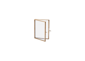 Folded Frame in Antique Brass - 5 x 7 cm