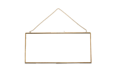 Landscape Frame in Antique Brass - 22 x 48,5 cm