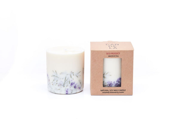Juniper & Limonium Candle Munio Candela with packaging