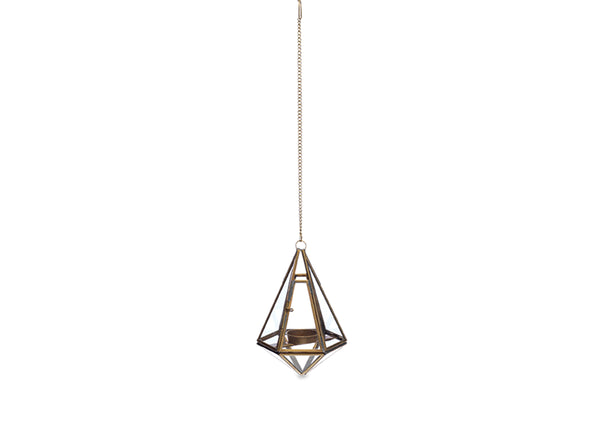 Hanging Lantern in Antique Brass - Small