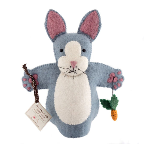 Rabbit Puppet Sew Heart Felt