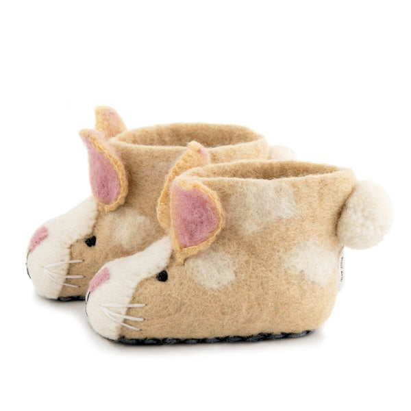 Ruby Rabbit felt slippers Sew Heart Felt