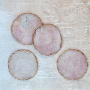 Coaster Pink Agate - set of 4