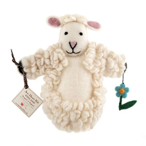 Shirley Sheep Puppet Sew Heart Felt