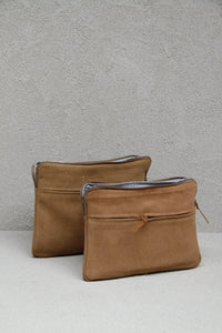 Jute Canvas Laptop Bag - Camel