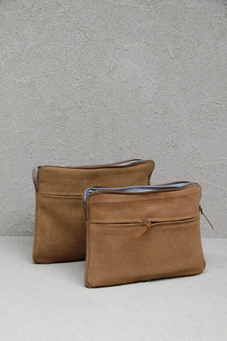 Jute Canvas laptoptas - kameel