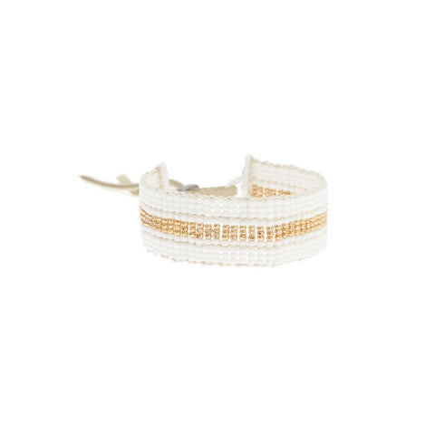 Warrior Bracelet - White & Gold