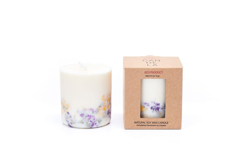 Wild Flowers Candle Munio Candela with packaging