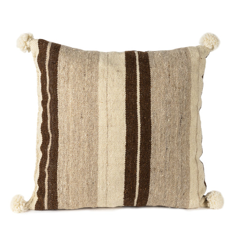 Striped Cushion with pom pom
