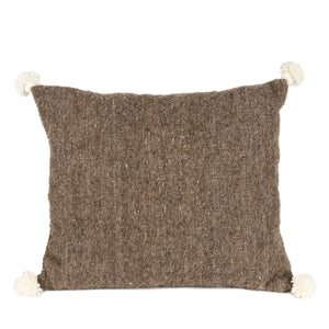 Brown Cushion with pom pom