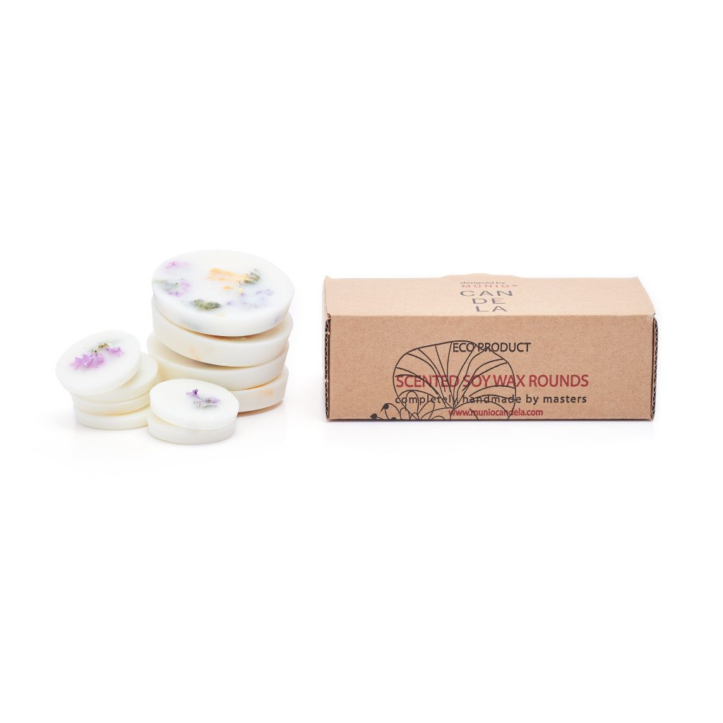 Soy Wax Rounds Wild Flowers with Rose Fragrance