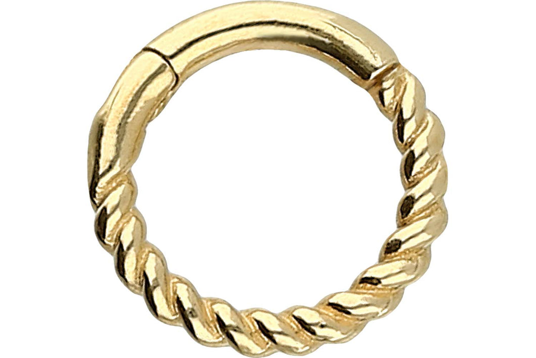 Clicker Ring Gedreht 18 Karat Gold piercinginspiration®