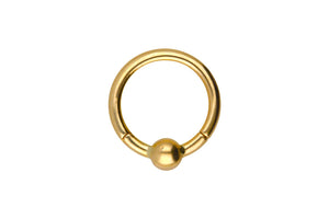 Anillo clicker de oro de 18 quilates piercinginspiration®