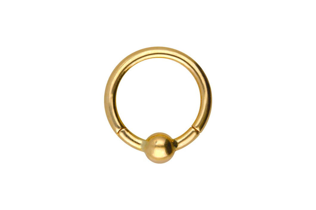 18 Karat Gold Kugel Clicker Ring piercinginspiration®