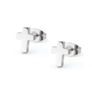 Cross Ear Stud Pair piercinginspiration®