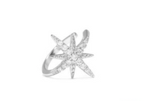 Upload the image to the gallery viewer, crystal meteorite star ear cuff 925 sterling silver piercinginspiration®
