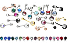 Upload the picture to the gallery viewer, crystal navel piercing surgical steel piercinginspiration®