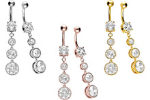 Upload the picture to the gallery viewer, 4 crystals balls navel piercing barbell piercinginspiration®