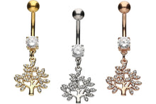 Upload the picture to the gallery viewer, crystal tree pendant navel piercing barbell piercinginspiration®