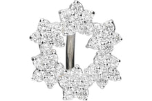 Upload the picture to the gallery viewer, Crystal Floral Wreath Navel Piercing Barbell Surgical Steel piercinginspiration®