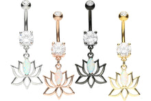 Upload the image to the gallery viewer, Lotus Flower Opal Navel Piercing piercinginspiration®