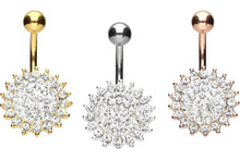 Upload the picture to the gallery viewer, Sun Crystals Navel Piercing Barbell piercinginspiration®