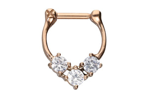 Anker Clicker Ring 3 Cristales Grandes piercinginspiration®