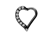 Laden Sie das Bild in den Galerie-Viewer, Herz Kristall Clicker Ring piercinginspiration®