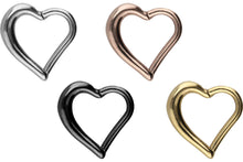 Upload the image to the gallery viewer, heart clicker ring piercinginspiration®