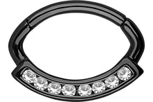 Upload the image to the gallery viewer, Crystal Septum Daith Clicker Ring Oval piercinginspiration®