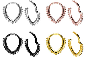 Clicker Ring Septum Daith Tropfen Kugeln piercinginspiration®