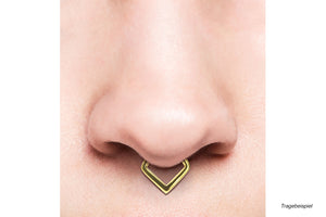 Spitz Septum Daith Clicker Ring V-Form piercinginspiration®