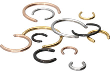 Upload the picture to the gallery viewer, Horseshoe Ring Barbell without bullets Surgical Steel piercinginspiration®