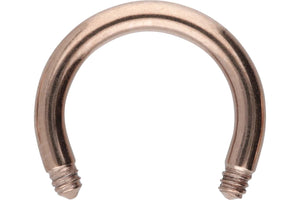 Titanium Horseshoe Ring Barbell Without Balls piercinginspiration®