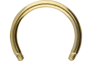 Horseshoe Ring Barbell Without Balls Surgical steel piercinginspiration®