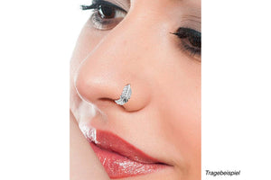 Feder Nasenstecker Piercing piercinginspiration®
