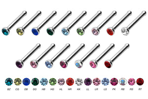 Titan Basic crystal nose stud pin piercinginspiration®