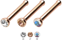Upload the image to the Gallery Viewer, Titan Basic Crystal Nose Stud Pin piercinginspiration®