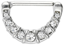 Upload the image to the Gallery Viewer, 9 Socketed Crystals Nipple Clicker piercinginspiration®