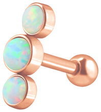 Upload the image to the gallery viewer, 3 Opal Ear Piercing piercinginspiration®