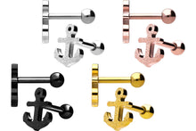 Upload the picture to the gallery viewer, diamond optic anchor ear piercing barbell piercinginspiration®